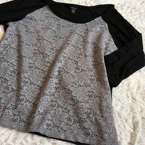 Torrid Black W/ Grey Lace Front Size 0